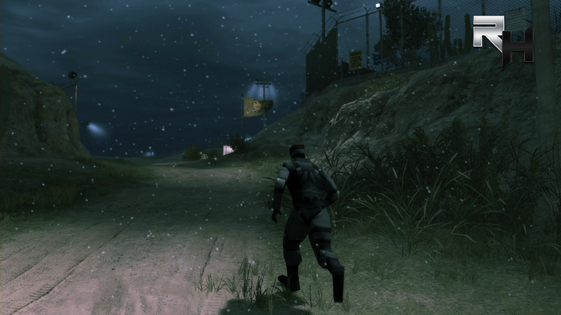 The Deja Vu mission puts Boss in a recreation of Shadow Moses within the Camp Omega base.