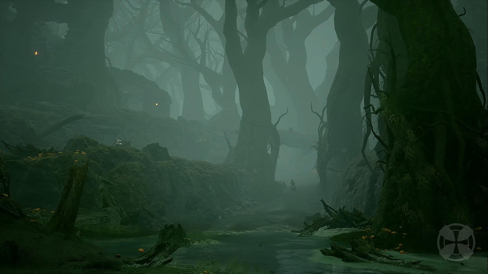 Screenshot showing the visuals of Mortal Shell.