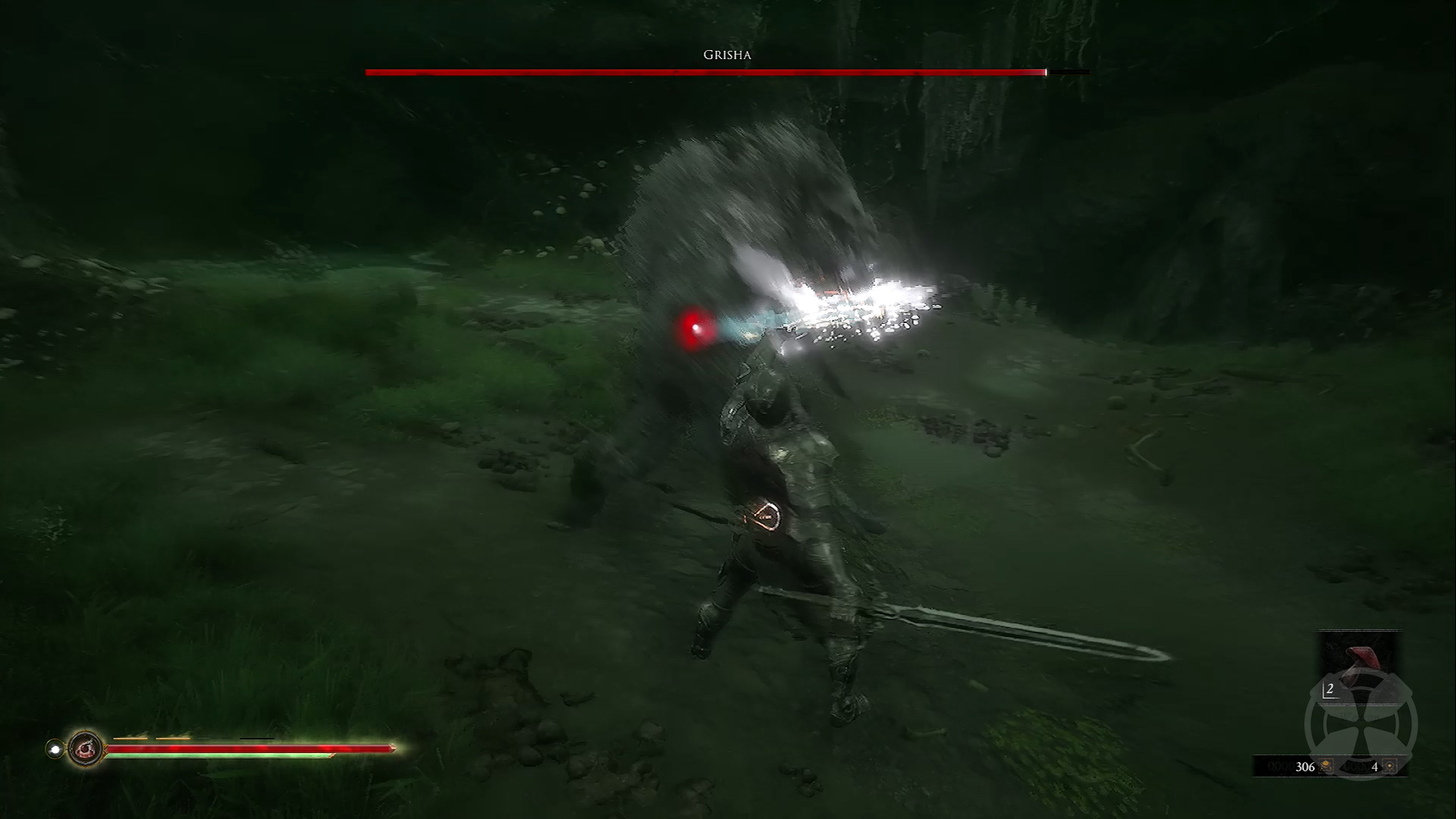 Image of a successful parry in Mortal Shell.