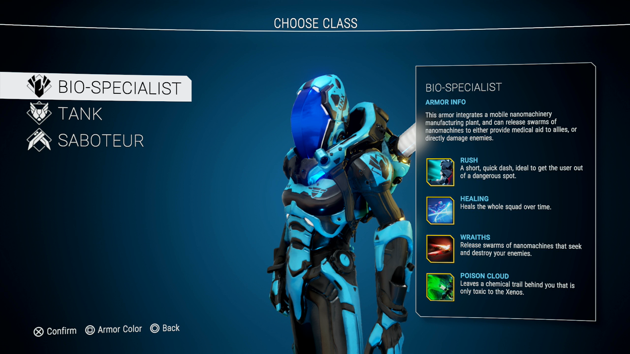 Pick your class carefully, they all have different abilities and starting a new class starts a new game.